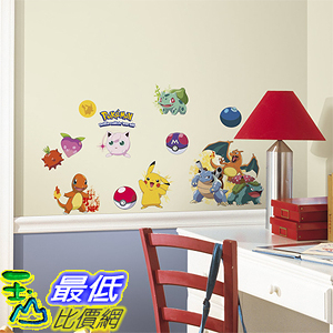 [美國直購] 神奇寶貝 精靈寶可夢周邊 RoomMates RMK2535SCS Pokemon Iconic Peel and Stick Wall Decals