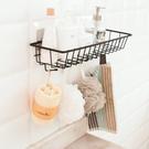 鐵藝壁掛收納籃 收納架 廚房 浴室用品 免打孔 置物架 儲物架子 無痕【P542】米菈生活館