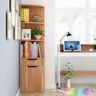 書架 書櫃書架置物櫃 角櫃墻角櫃儲物櫃客廳轉角櫃三角櫃 簡易落地櫃子 2021新款書架