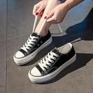 年夏季新款厚底帆布鞋女鞋子ulzzang板鞋女百搭球鞋韓版布鞋 雙12全館免運