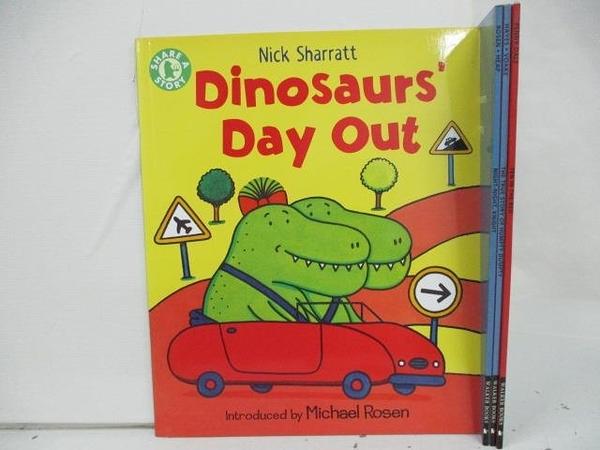 【書寶二手書T1/少年童書_DTE】Dinosaurs Day out_Ten in the Bed等_共4本合售