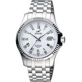 ENICAR 自動系列璀燦晶鑽機械腕錶-白/銀 3165-50-329a