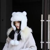 保暖可愛滑雪帽子加厚仿水貂毛皮草雷鋒帽護耳【步行者戶外生活館】