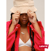 Levis 女款 漁夫帽 / 仿皮草質感帽身 / 精工刺繡Logo