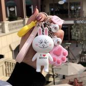 韓國創意可愛布朗熊鑰匙扣女汽車鑰匙鍊掛件情侶鑰匙鍊女生包掛件