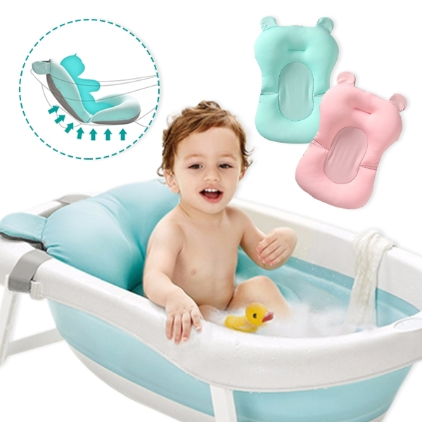 寶寶洗澡神器 防滑沐浴墊 嬰兒洗澡沐浴床網兜 浴盆防滑墊浴架-JoyBaby