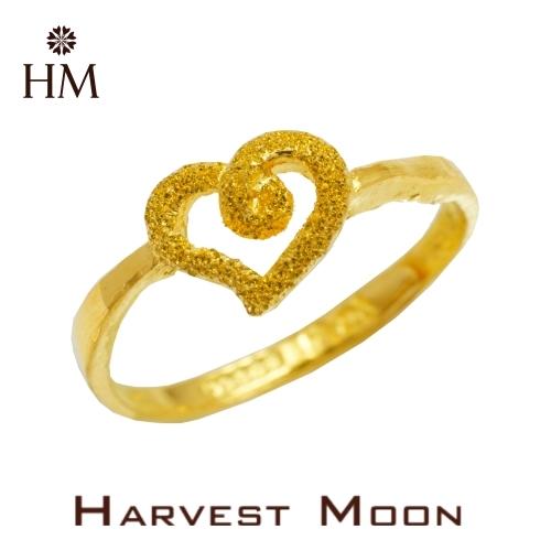 Harvest Moon 富家精品 黃金尾戒 愛心 9999 純金金飾 女尾戒子 黃金戒指 可調式戒圍 GR03433
