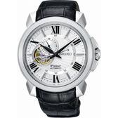 【台南 時代鐘錶 SEIKO】精工 Premier 典雅羅馬時標機械錶 SSA373J1@4R39-00S0P 皮帶 43mm