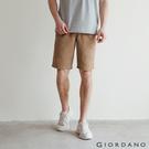 【GIORDANO】男裝天然棉休閒短褲 - 97 虎眼卡其x淺卡其