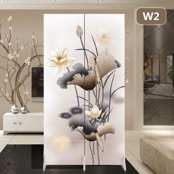 屏風客廳隔斷墻中式小戶型臥室折疊移動推拉雙面布藝現代簡約折屏