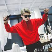 秋季長袖襯衫男 寬鬆bf風發型師休閒ins純色長袖襯衣韓版潮流寸衫 薔薇時尚
