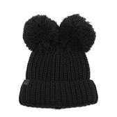 KARL LAGERFELD 時尚熱銷熊熊毛線帽(黑色)