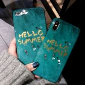 iPhoneX手機殼同款祖母綠大理石蘋果7/8plus硅膠潮6S【快速出貨】