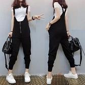 連身褲 2020新款歐貨休閒小腳背帶褲女連體褲寬鬆