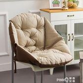 坐墊靠墊一體護腰座墊冬季加厚毛絨辦公室藤椅餐椅子電腦靠背椅墊