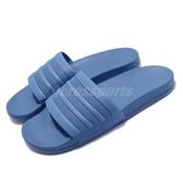 adidas 拖鞋 adilitte Comfort 藍 三條線 男鞋 運動拖鞋 【PUMP306】 F34630