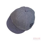 嬰兒童遮陽網帽夏季薄款男女童純棉胎帽條紋鴨舌帽新生兒棒球帽子 快速出貨