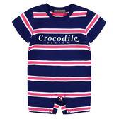 『小鱷魚童裝』條紋連身裝(0號~01號)535531