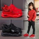 女童鞋 兒童運動鞋款防水新款中大童男童鞋老爹鞋女童二棉鞋 快速出货