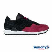SAUCONY SHADOW O SUEDE 經典復古鞋款-黑x紅