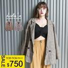 LULUS-E袖三釦格紋排釦外套-2色  現+預【03060232】