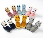 嬰兒襪子 秋冬厚款兒童地板襪防滑襪嬰兒保暖襪男女寶寶學步襪子-蘇迪奈