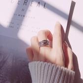 【新飾界】戒指:s925銀情侶男女復古編織開口戒指