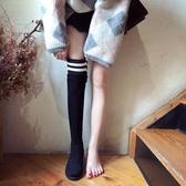 過膝靴女2019秋冬季新款韓版百搭小辣椒長筒靴平底彈力高筒瘦瘦靴