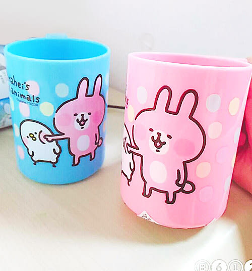 卡娜赫拉杯子漱口杯可放牙刷兔揍機藍粉213555通販屋
