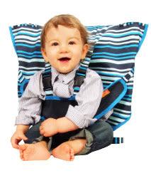 美國 My Little Seat可攜式寶寶安全椅套 紳藍條紋