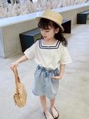 女童夏裝2020新款洋氣韓版2-9歲3寶寶4襯衣5兒童短袖6名媛襯衫潮7