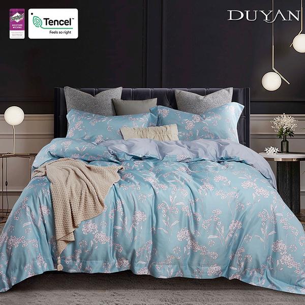 《DUYAN竹漾》天絲雙人床包被套四件組- 沁夏海沫