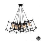 吊燈★Loft 現代工業風 立方造型骨架吊燈 8燈✦燈具燈飾專業首選✦歐曼尼✦