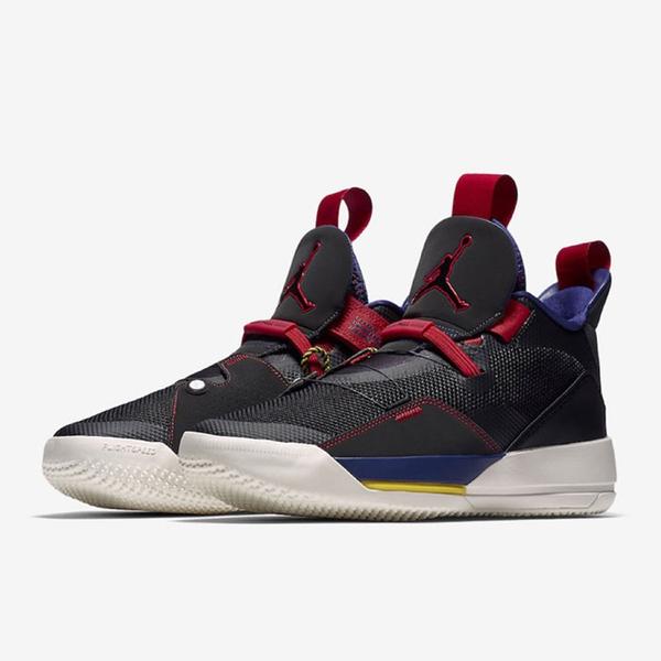 NIKE AIR JORDAN XXXIII GS 33代 黑藍紅 籃球鞋 女(布魯克林) AQ9244-001