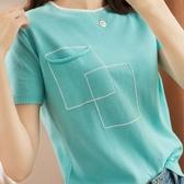 新款夏裝短袖女韓版寬鬆棉麻圓領短款百搭針織純棉t恤上衣打底衫 聖誕節全館免運