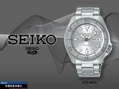【時間道】SEIKO 精工 5SPORTS新世代5號機械錶/哥德字框全銀鋼帶(4R36-08E0S/SRPE71K1)免運費