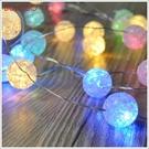 《不囉唆》聖誕USB碎球銅線燈2m(20燈) 聖誕裝飾/聖誕樹/聖誕節(可挑色/款)【A429111】