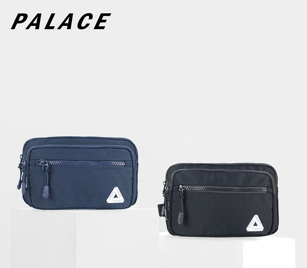 PALACE 素色簡約多夾層潮流腰包 可裝水壺 NO:S9315