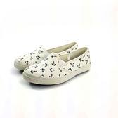 中童 簡約大方 魔鬼氈 柔軟輕便鞋 休閒鞋 懶人鞋 《7+1童鞋》E201 白色