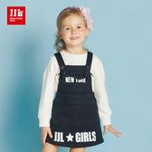 JJLKIDS 女童 紐約女孩淘氣吊帶裙(黑色)