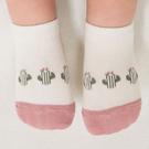 嬰兒襪 正韓 KIDS CLARA 拚色圖樣嬰兒襪 襪子 - 粉白/仙人掌 Amigos Summer Socks