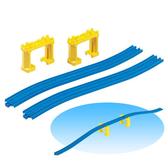 ★funbox玩具★火車配件 R-6新爬升軌(附橋墩)◎PLARAIL鐵路王國系列_TP15007