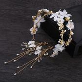 新娘頭飾仙美蝴蝶發發箍花朵婚禮婚紗配飾