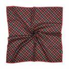 DAKS新款菱格線紋100%純棉帕巾(梅粉)989163-17