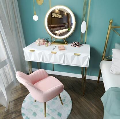 現代簡約化妝桌收納柜一體小型