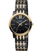 VOGUE 尊爵時尚羅馬女錶-黑x雙色版 2V1407-131DYG-D