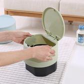 售完即止-小垃圾桶桌面垃圾盒創意迷你可愛韓式小型辦公桌上帶蓋垃圾桶3-4(庫存清出S)