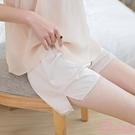 蕾絲安全褲防走光女夏薄款冰絲不捲邊可內外穿寬鬆保險褲打底短褲