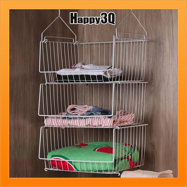 五件組衣櫃收納衣服收納置物架下掛籃收納籃鐵架衣物分類【AAA5560】預購
