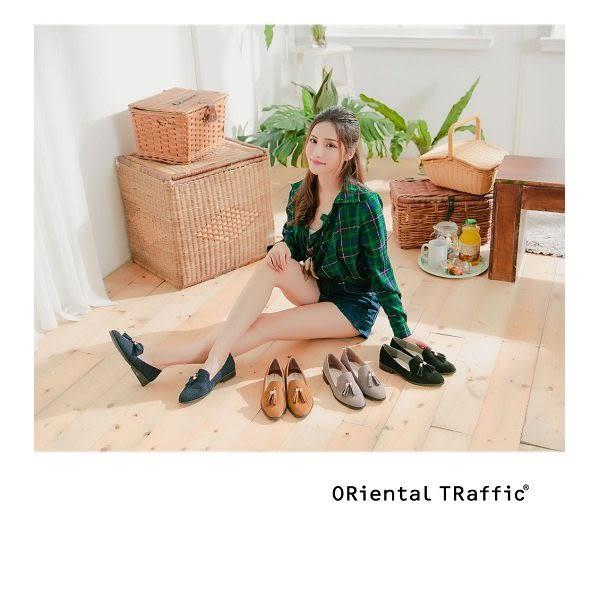 【ORiental TRaffic】經典俏皮流蘇樂福鞋-貴族藍